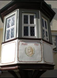 Der unter Denkmalschutz stehende Schiller-Erker 2016, welcher u.a. von Friedrich Schiller und Eduard Mörike regelmäßig besucht wurde.