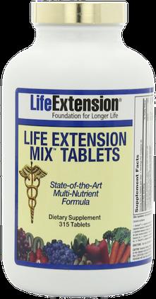 Multivitalstoff-Nahrungsergänzung in richtiger Zusammensetzung und Dosierung (© Life extension)