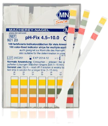 pH-Mess-Streifen zur Prüfung der Säuren-Basen-Balance. (© Macherey-Nagel)