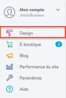 Modifier le Design d'un site Jimdo
