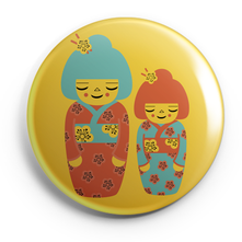 KOKESHIS_BADGES MAGNETS PETITS MIROIRS