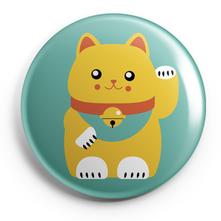 MANEKI NEKO LUCKY CAT_BADGES MAGNETS PETITS MIROIRS