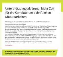 Initiative: Mehr Zeit für die Korrektur der schriftlichen Maturaarbeiten
