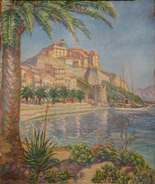 port 1936 55x48 huile sur toile André Aaron Bilis