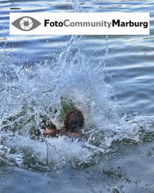 Andreas Maria Schäfer, Fotografiewelten,fotograph1956,FotoCommunityMarburg,Logo,Wasser,Sprung
