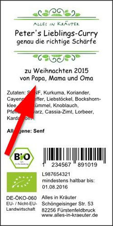 personalisiertes Etikett