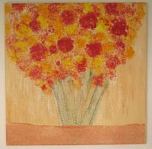 Blütenstrauss, 50 x 50 cm