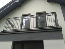 Balustrada kuta malowana