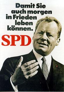 Bild: Foto:  Lissy Gröner , Willy Brandt, Frieden, SPD