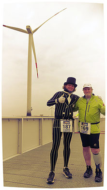 Endlich konnte ich Christian, derzeitiger Weltrekordhalter für vielen Marathonläufen, persönlich kennenlernen...
