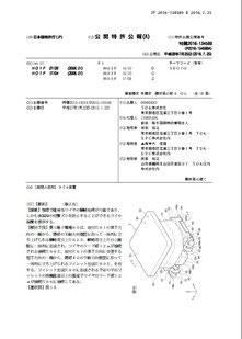 公開特許公報のフロントページ