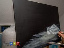 Ein Acrylbild entsteht