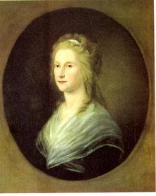 Rebecca Claudius. Ölporträt von Friederike Leisching (um 1797) Hamburg Museum (Inventar-Nr. 1951,83)