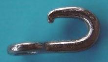Nr. 37 Kummethaken  Edelstahl oder Stahl vernickelt von Alois Achatz Pferdeartikel / Horse Products