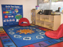Circle time area in the Bear classroom