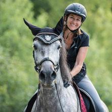Michaela and her PRE mare Graya