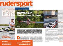 Das Rudersport-Magazin berichtet von einem ROWonAIR Test [Ausgabe 4-2021]