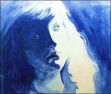 Blue Self-portrait (1993), watercolor, Nicole Harper ©