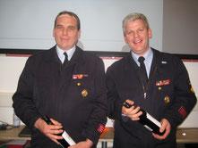 Dirk Winter & Steffen Schneider erhielten die Vereinsbandschnalle in Gold