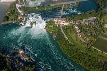 Helikopterflug zum Rheinfall