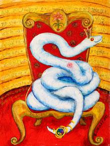 weise Schlange - Gemälde von B. Sielaff