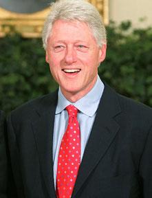 Bill Clinton, Mercure conjoint à Pluton.