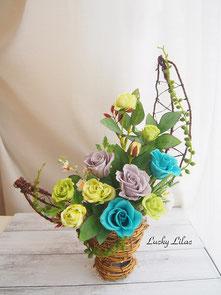 「Green rose trellis」