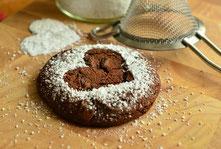 Schokoladen Keks mit Herz