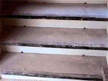Treppe Trittstufe und Setzstufe mit Farbe schleifen Berlin