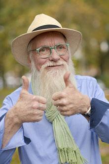 Der Gartenbotschafter John Langley® stand TASPO Rede und Antwort. Foto: Jürgen Müller