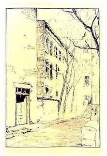 1917年に出版された、グレニッチビレッジのガイドブックの挿絵。