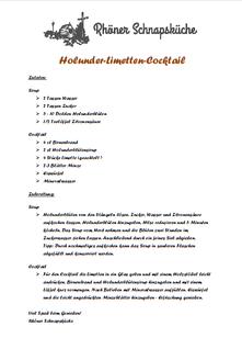 Holunder-Limetten-Cocktail