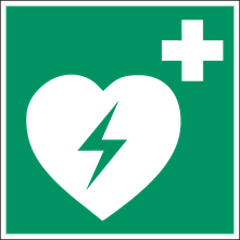 Bild: DIN Beschilderung für AEDs