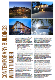 "Contemporary Buildings with Timber - Article in the Magazine ""Archetec"""