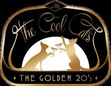 """Niemand feiert den Titel """"Von Asche zu Staub"""" mehr als Lou Bingemer von den Cool Cats. Hier ist das neue Logo 20er Jahre Logo der The Coo Cats."""
