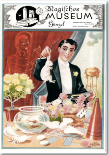 Souvenir Postkarte 3, Litho Zauberkünstler Logo Museum, 2016, Jens-Uwe Günzel