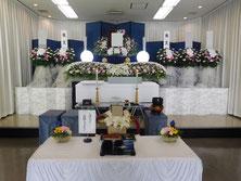 和光市民葬での生花祭壇