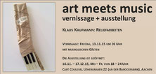 "Einladung ""art meets music"" von Klaus Kaufmann, Cafe Couleur, Aachen"