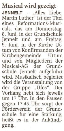 Ostfriesenzeitung 30.5.2017