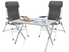 Campingmöbel, Tisch und 6 Stühle