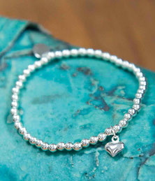 little puffed heart charm bracelet Emma Hedley Jewellery