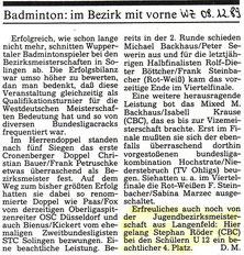 WZ vom 08.12.1989 Bezirksmeisterschaften