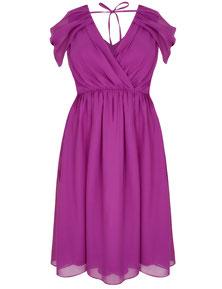Chiffon Kleid pink in Übergröße, pink Kleid in XXL