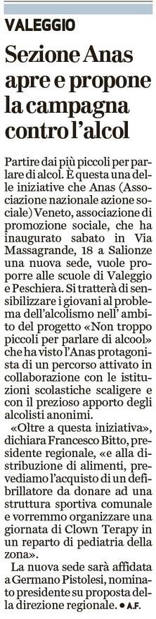 Dal giornale l'Arena del 29/09/2015