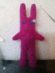 タイバニ うさぎのバニーちゃん人形 作り方 羊毛フェルト