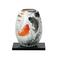 *kutani flower vase - KOI carps