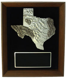 "Solid Cherry Wood 10-1/4"" x 13-1/4"" Shadow Box Award Frame"