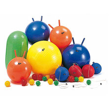 Lot de ballons géants pour la gymnastique des enfants. Matériel de jeu en kit pour faire de la gymnastique enfants à acheter pas cher.
