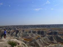 Badlands国立公園の風景
