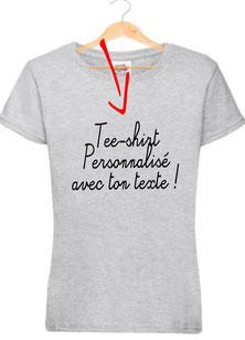 teeshirt pour une amie